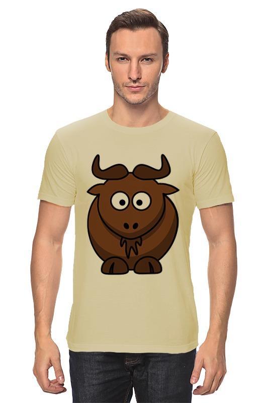 Футболка классическая Printio Коричневый бык майка thalassa цвет коричневый бежевый