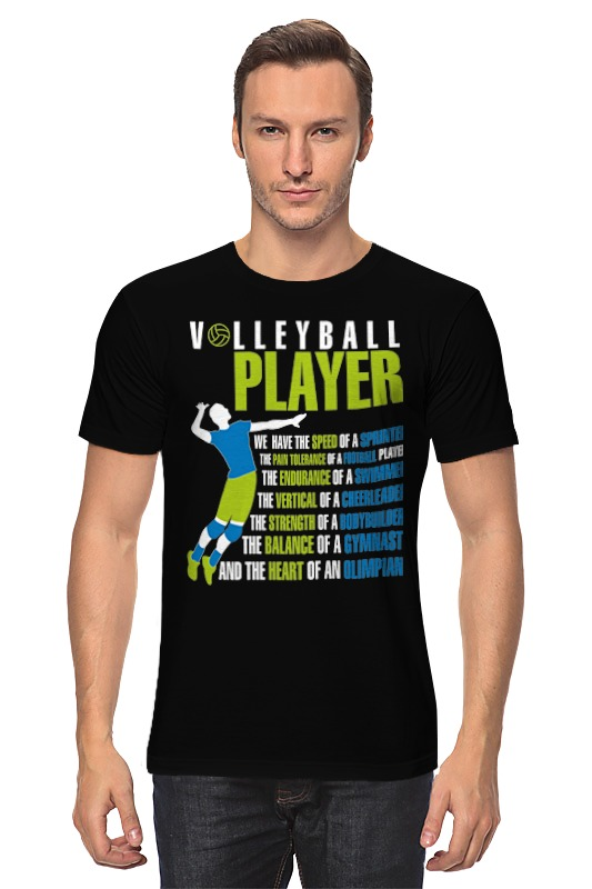 Футболка классическая Printio Volleyball player футболка wearcraft premium printio volleyball player