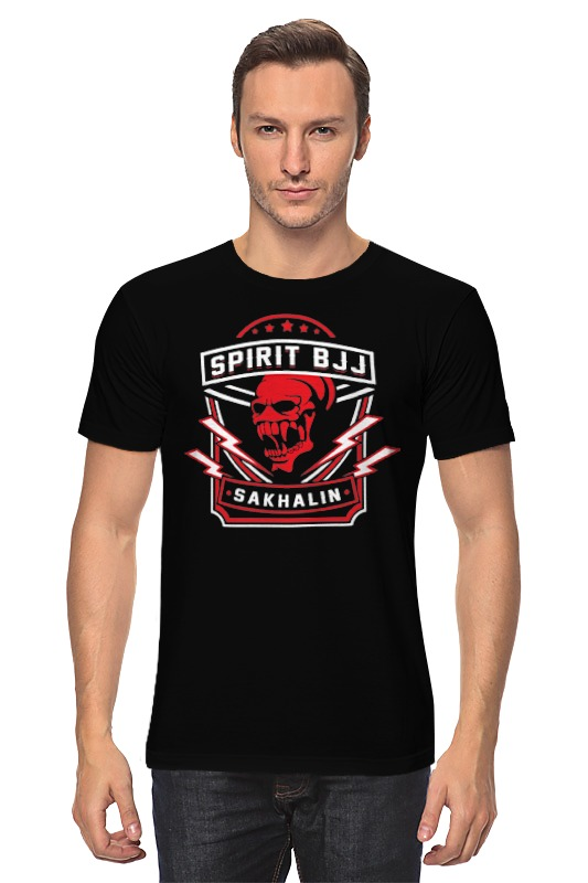 Футболка классическая Printio Spirit bjj sakhalin skull (black) футболка rebel spirit rebel spirit re032emspj40