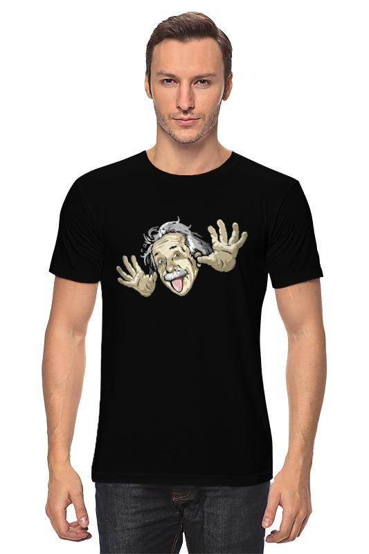 Футболка классическая Printio Эйнштейн футболка рингер printio эйнштейн