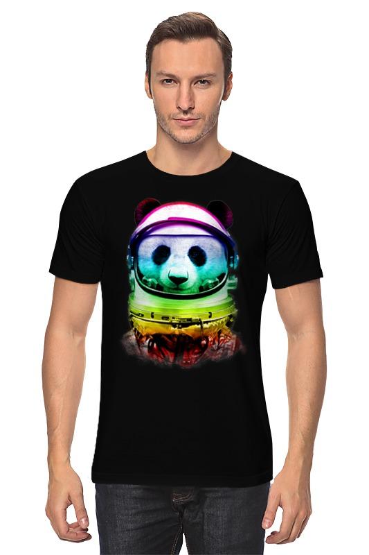 Футболка классическая Printio Панда космонавт