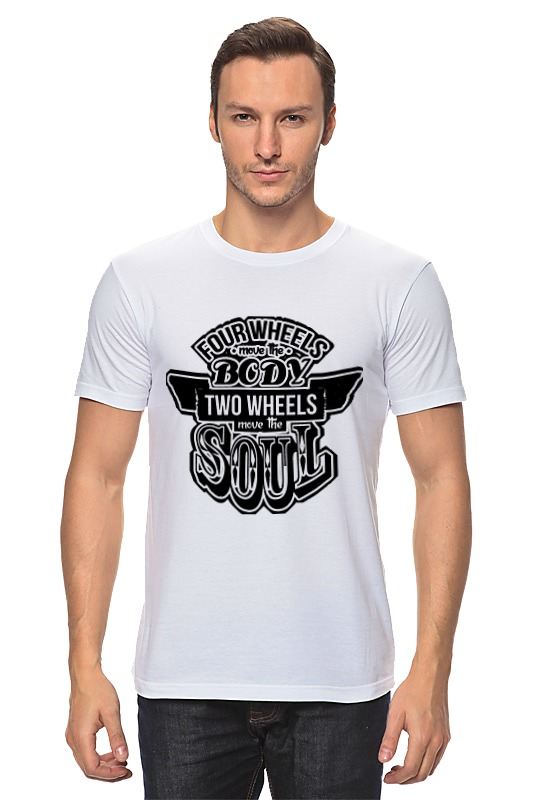 Футболка классическая Printio Two wheels move the soul футболка рингер printio two wheels move the soul