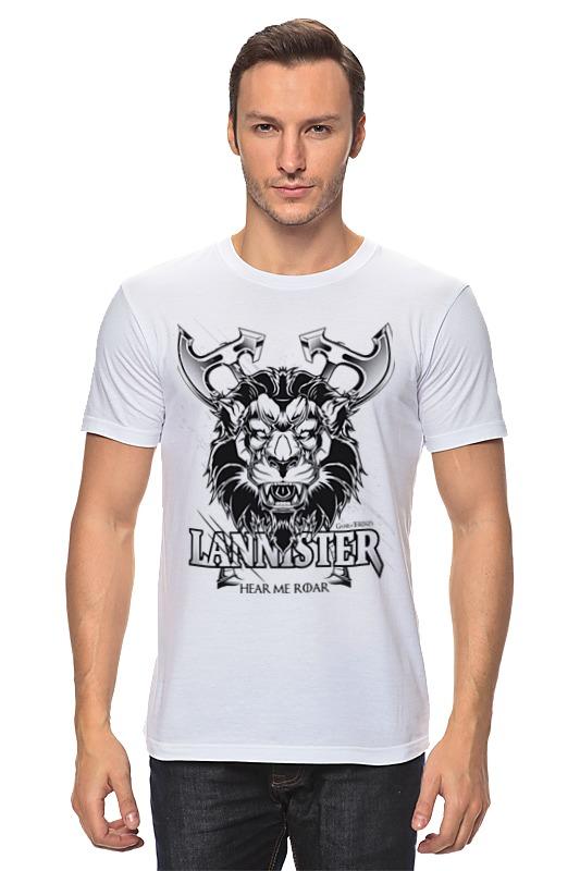 Футболка классическая Printio Лев ланнистеров (игра престолов) футболка классическая printio игра престолов дом ланнистеров