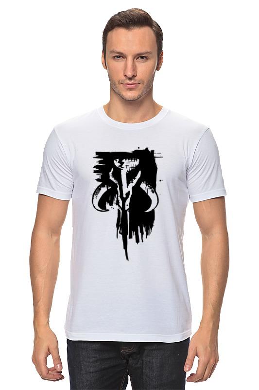 Футболка классическая Printio Mythosaur skull off the shoulder tunic sweater