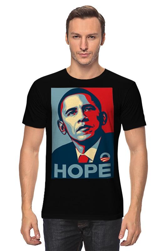 цены на Футболка классическая Printio Обама hope
