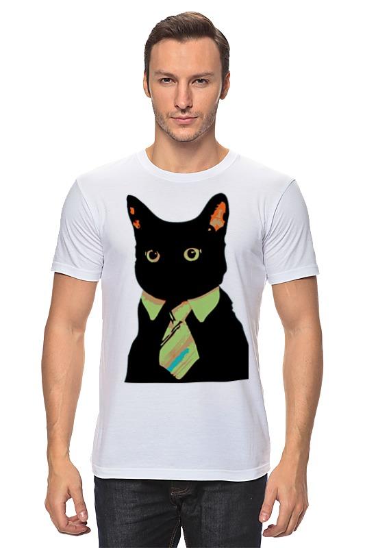 Футболка классическая Printio Деловой кот деловой костюм