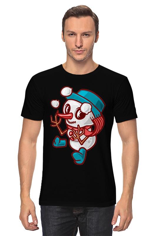 Футболка классическая Printio Снеговик футболка классическая printio снеговик