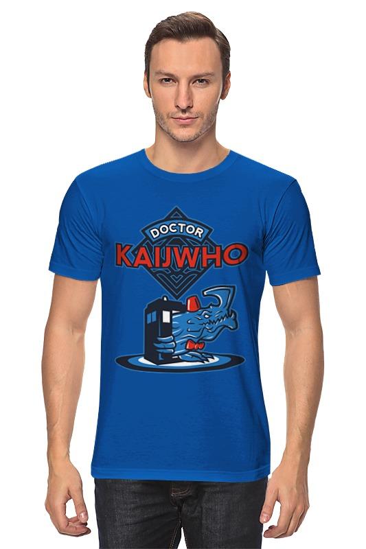 Футболка классическая Printio Doctor who x kaiju danjue ярко синий 19cm x 9cm x 2cm