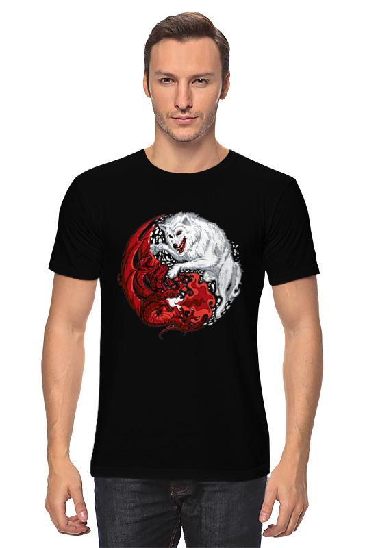 Футболка классическая Printio Волк и дракон (игра престолов)