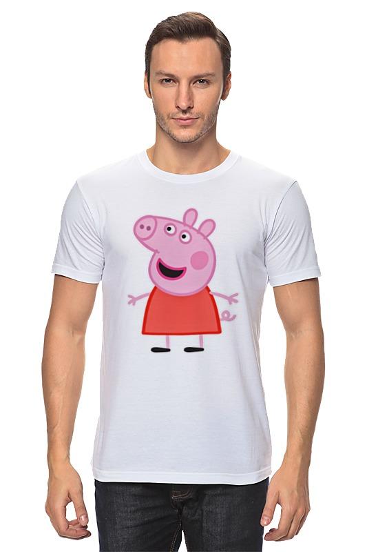 Футболка классическая Printio Свинка пеппа мягкая игрушка свинка росмэн свинка пеппа джордж морячок плюш текстиль пластик розовый 25 см