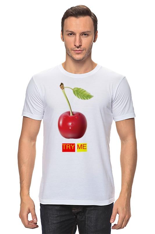 Футболка классическая Printio Try me футболка классическая printio color me
