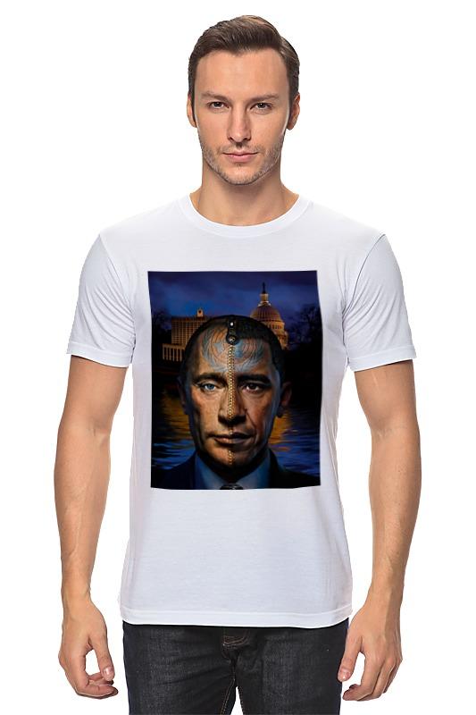 Футболка классическая Printio Путин vs обама сумка printio путин vs обама