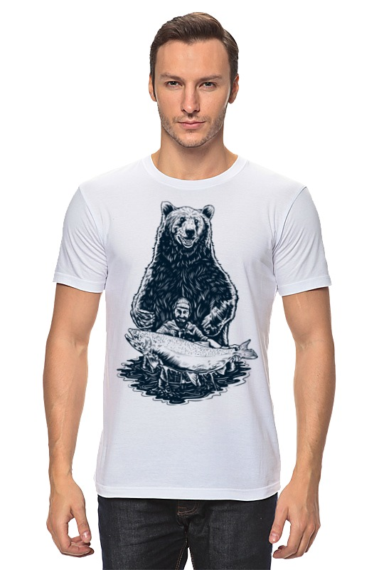 Футболка классическая Printio Медвежья рыбалка цена и фото