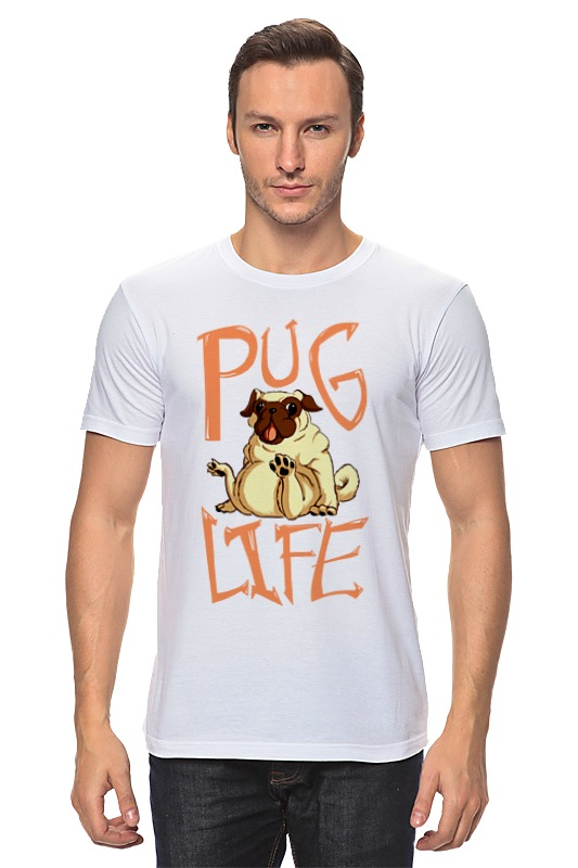 Футболка классическая Printio Pug life lounge life футболка