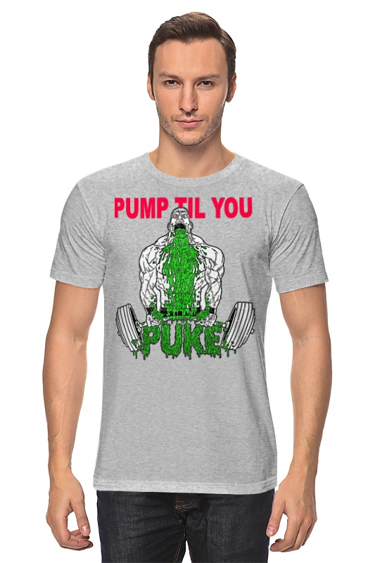 Футболка классическая Printio Pump til you чулки seven til midnight большого размера с кружевной резинкой xl телесный