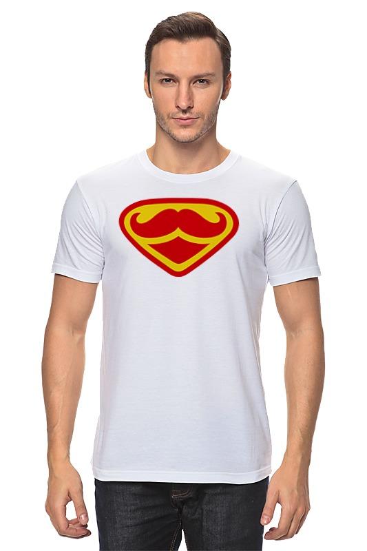 Футболка классическая Printio Супермен-усач-бородач сумка printio усач и трубка