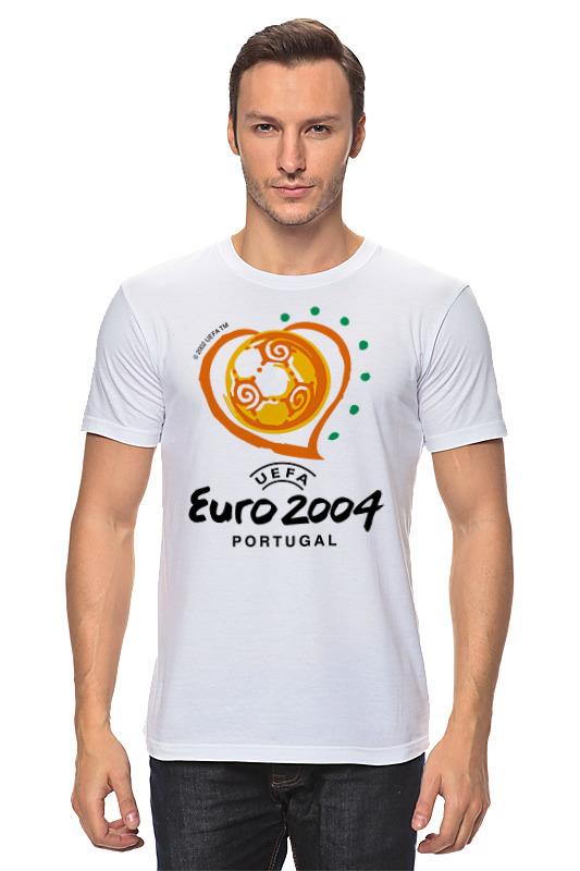 Футболка классическая Printio Чемпионат европы по футболу 2004 gianna июня европы с высоким раунд с шу ци звезда blk полоса тонкая длинная рубашка холтер платье