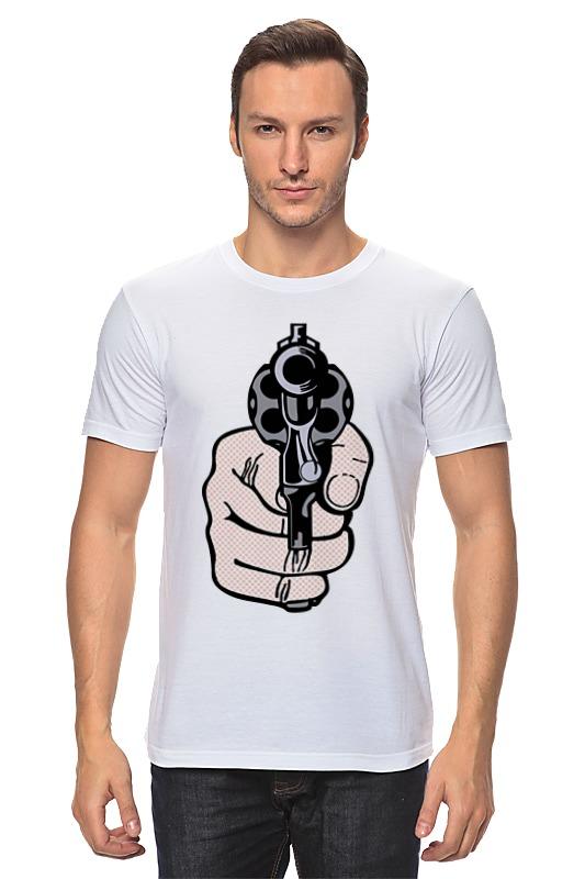 Футболка классическая Printio Рука с пистолетом майка классическая printio рука с пистолетом