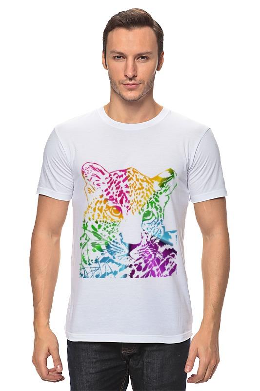Футболка классическая Printio Радужный леопард азбука леопард