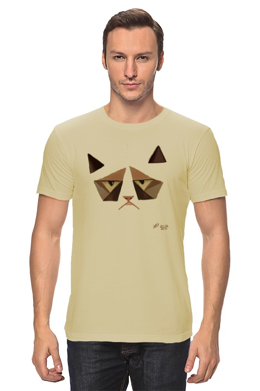 Футболка классическая Printio Сердитый котик / grumpy cat (art nouveau) tarot art nouveau таро галерея в футляре улучшенная твердая бумага