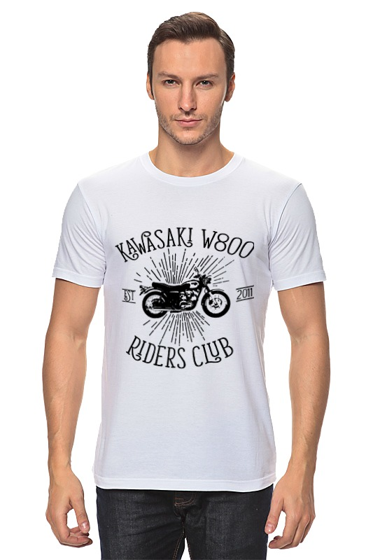 Футболка классическая Printio Kawasaki w800 riders club