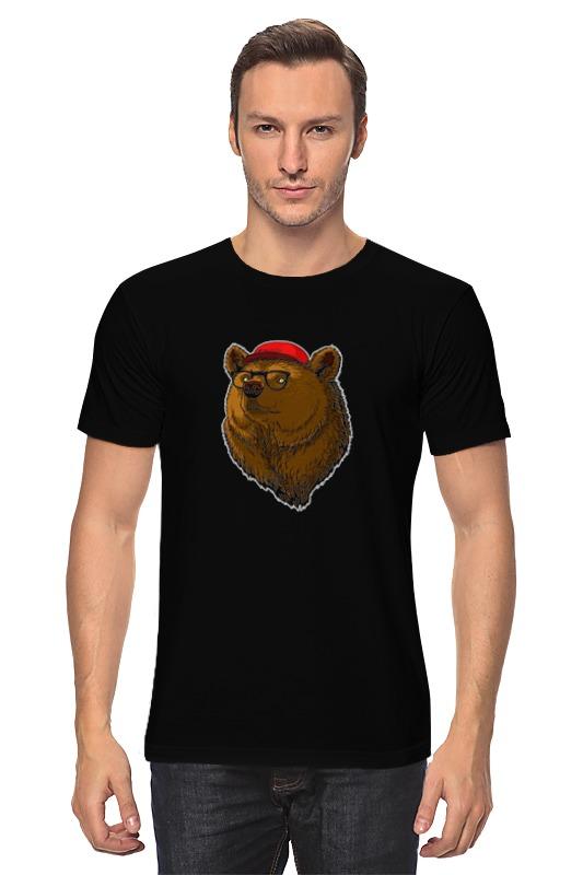 Футболка классическая Printio Медведь-хипстер