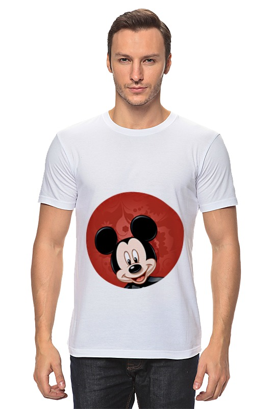 Футболка классическая Printio Микки маус мультяшный герой футболка print bar mickey mouse микки маус