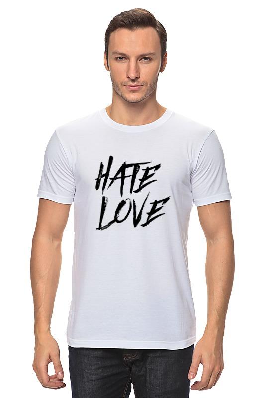 Футболка классическая Printio Рэпер face hate love кепка printio рэпер face hate love