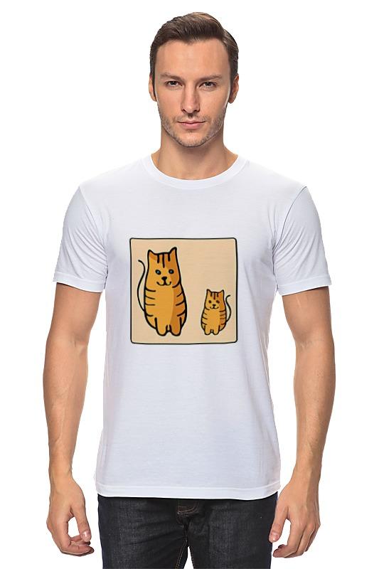 Футболка классическая Printio Два котика, смотрящие друг на друга неизвестный друг