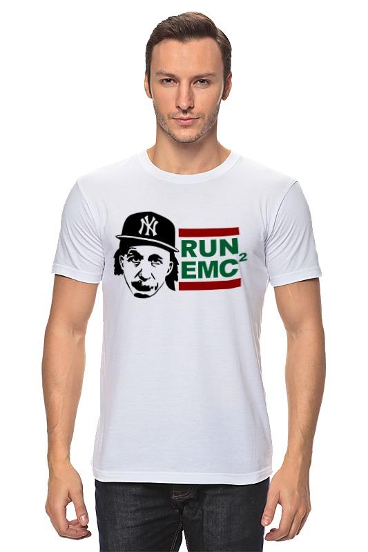 купить Футболка классическая Printio Run emc по цене 854 рублей