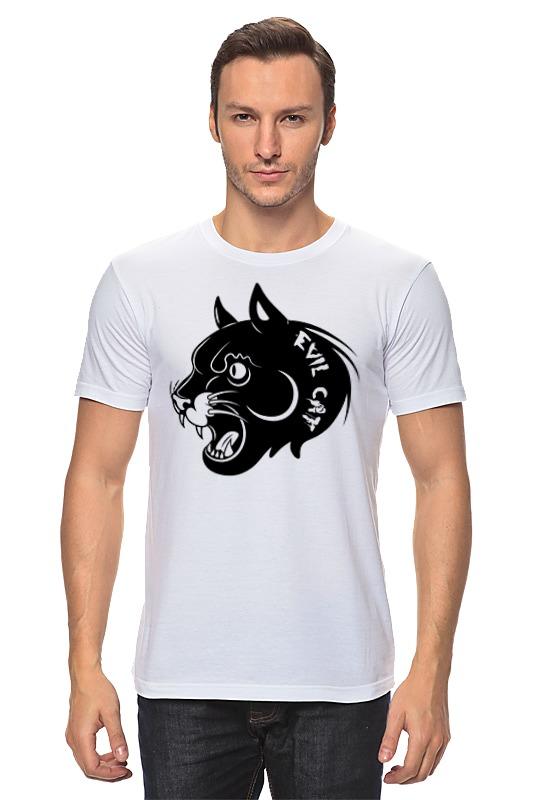 Футболка классическая Printio Злой кот футболка классическая printio черно белый кот