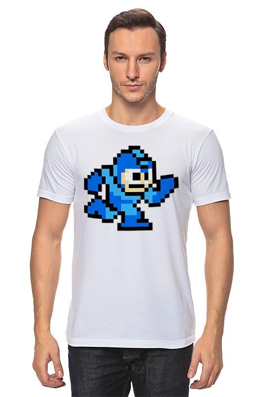Printio Mega man (8-bit) футболка классическая printio blue bombers mega man