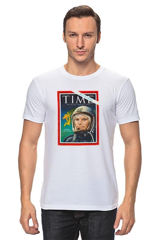 Футболка классическая Printio Лицо гагарина на обложке