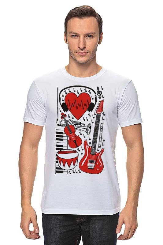 Футболка классическая Printio Музыкальное сердце