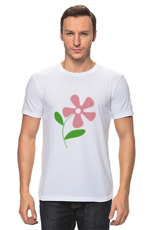 Футболка классическая Printio Розовый цветок футболка miamoda klingel цвет белый розовый полоска