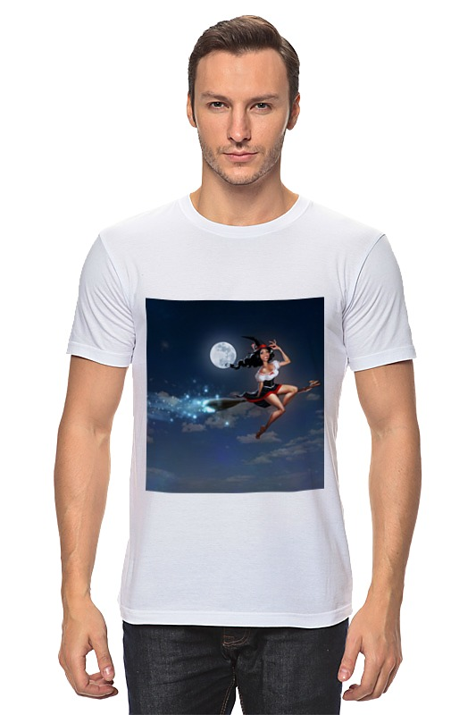 Футболка классическая Printio Ведьма на метле футболка классическая printio ведьма страна оз