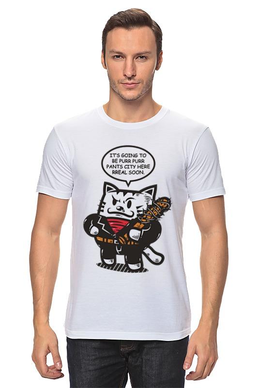 Футболка классическая Printio Ниган - кот футболка классическая printio черно белый кот
