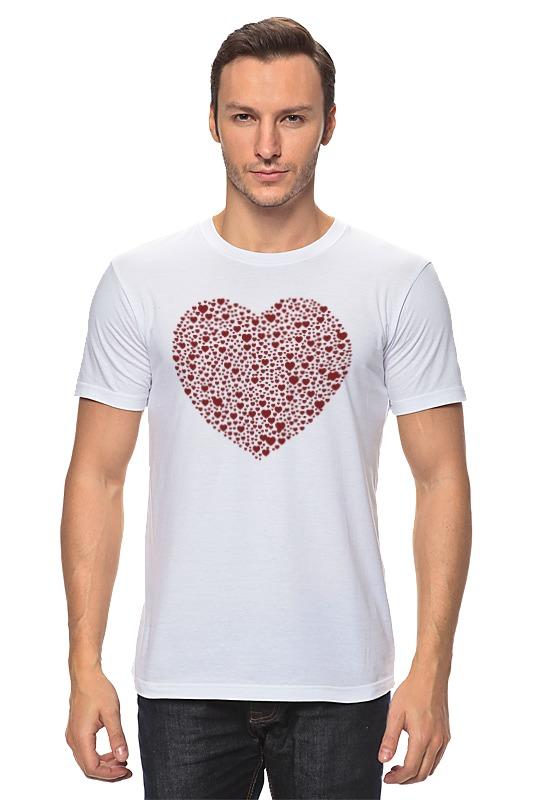 Футболка классическая Printio Сердца в сердце серая
