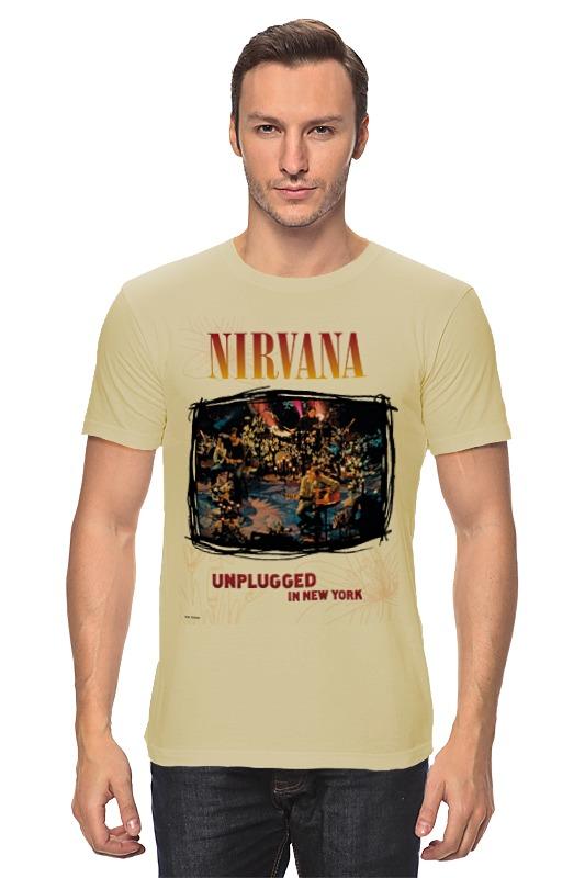 Футболка классическая Printio Nirvana unplagged album t-shirt футболка wearcraft premium slim fit printio nirvana unplagged album t shirt