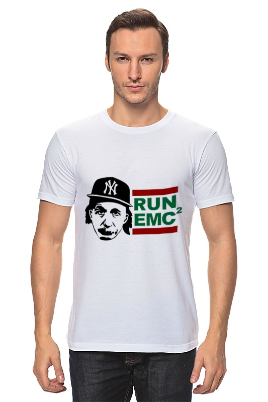 купить Футболка классическая Printio Run emc по цене 829 рублей