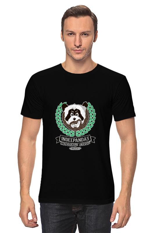 купить Футболка классическая Printio Indeepandas moscow crew hoodie по цене 1090 рублей