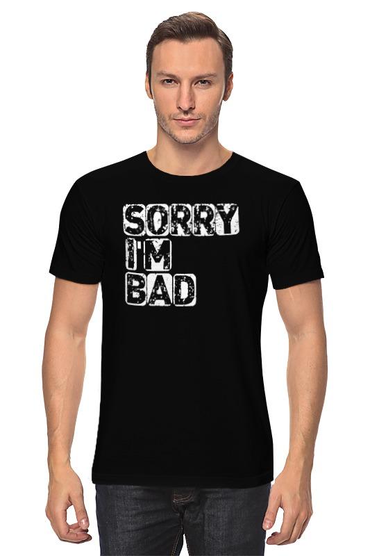 Футболка классическая Printio Простите, я плохой футболка классическая printio плохой парень