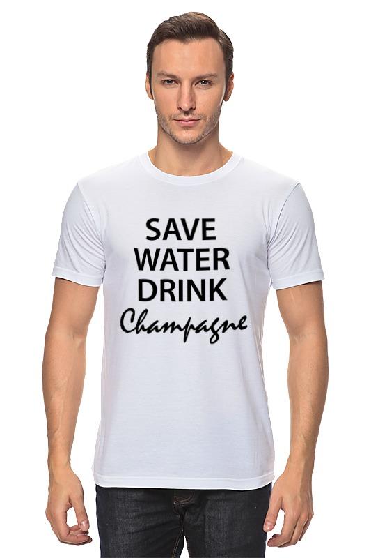 Футболка классическая Printio Save water wine ver 2 save water