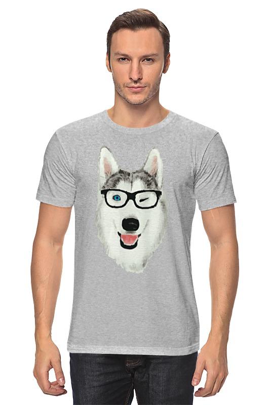 Футболка классическая Printio Хаски в очках щенков хаски в балашихе