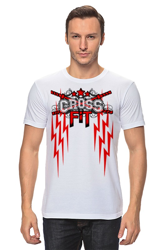 Футболка классическая Printio Crossfit скакалка скоростная proxima crossfit jr 7001 r red