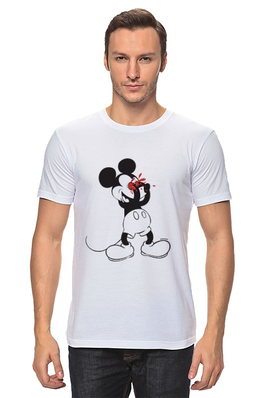 Футболка классическая Printio Mickey mouse bloody eyes on white футболка и шорты mickey mouse 12мес красный