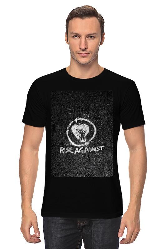 Футболка классическая Printio Rise against - logo levi's® серая футболка с логотипом sportswear logo graphic