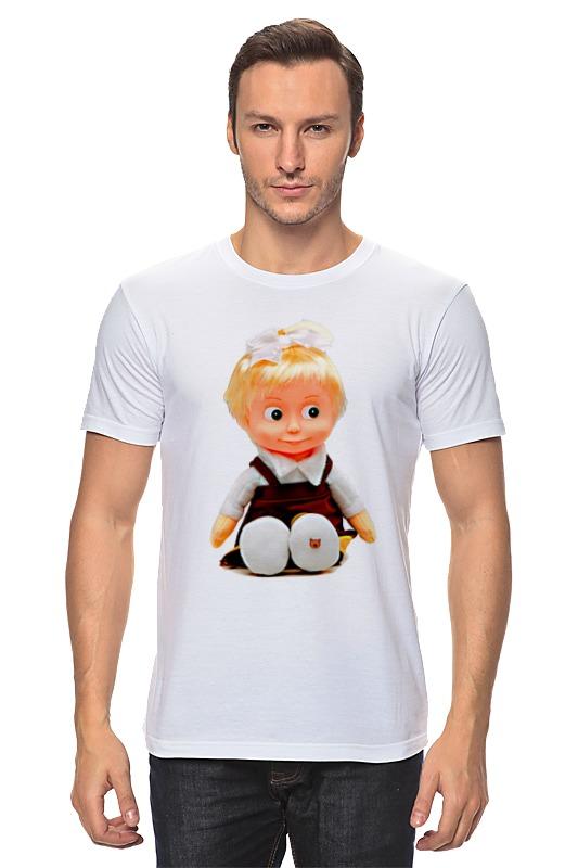 Футболка классическая Printio Кукла-девочка маша из мульта. смешная озорная. майка классическая printio кукла девочка маша из мульта смешная озорная