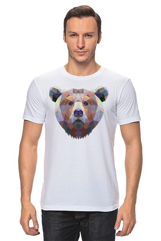 Футболка классическая Printio Полигональный медведь майка классическая printio полигональный медведь