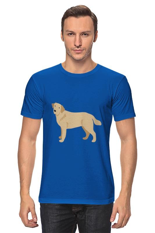 Футболка классическая Printio Милый пёс лагунов к я белый пёс синий хвост